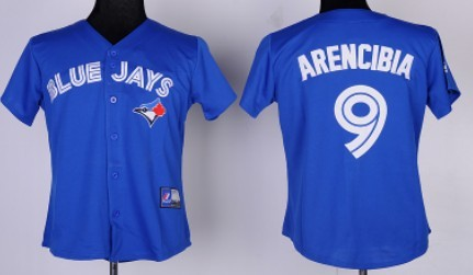 Toronto Blue Jays #9 J. P. Arencibia Blue Womens Jersey