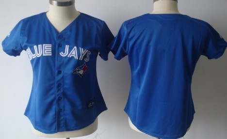 Toronto Blue Jays Blank Blue Womens Jersey