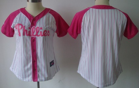 Philadelphia Phillies Blank 2012 Fashion Womens by Majestic Athletic Jersey