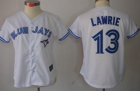 Toronto Blue Jays #13 Brett Lawrie White Womens Jerse