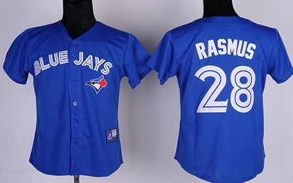 Toronto Blue Jays #28 Colby Rasmus 2012 Blue Womens Jersey
