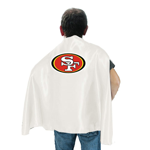 San Francisco 49ers White Hero Cape