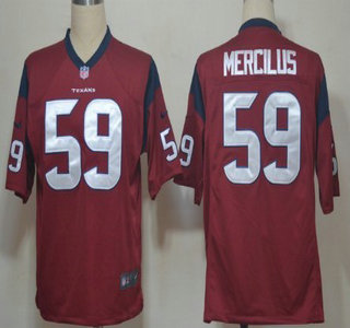 Nike Houston Texans 59 Whitney Mercilus Red Game Jersey
