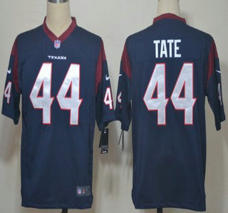 Nike Houston Texans 44 Ben Tate Blue Game Jersey