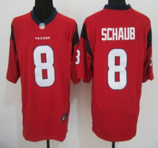 Nike Houston Texans 8 Matt Schaub Red Game Jersey