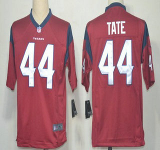 Nike Houston Texans 44 Ben Tate Red Game Jersey