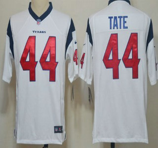 Nike Houston Texans 44 Ben Tate White Game Jersey
