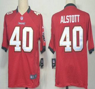 Nike Tampa Bay Buccaneers 40 Mike Alstott Red Game Jersey