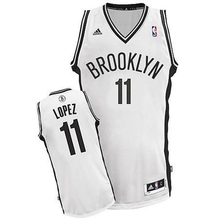 Brooklyn Nets #11 Brook Lopez Revolution 30 Swingman White Jersey