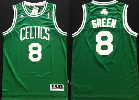 Boston Celtics #8 Jeff Green Revolution 30 Swingman Green Jersey