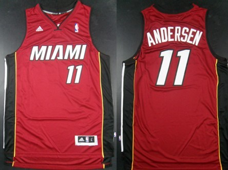 Miami Heat #11 Chris Andersen Revolution 30 Swingman Red Jersey