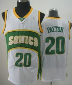 Seattle Supersonics #20 Gary Payton 1994-95 White Swingman Jersey