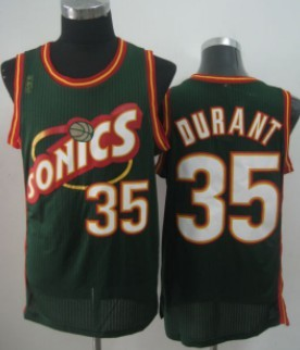 Seattle Supersonics #35 Kevin Durant 1995-96 Green Swingman Jersey