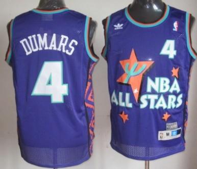 NBA 1995-1996 All-Star #4 Joe Dumars Purple Swingman Throwback Jersey
