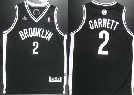 Brooklyn Nets #2 Kevin Garnett Revolution 30 Swingman Black Jersey