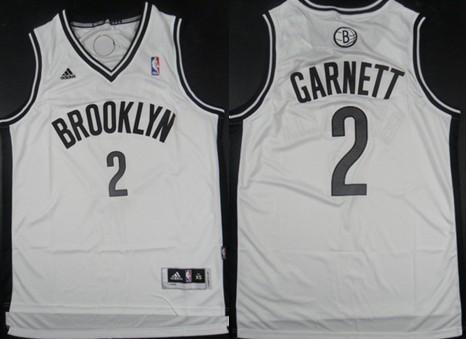 Brooklyn Nets #2 Kevin Garnett Revolution 30 Swingman White Jersey