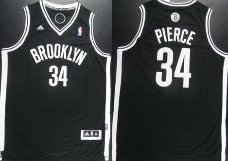 Brooklyn Nets #34 Paul Pierce Revolution 30 Swingman Black Jersey