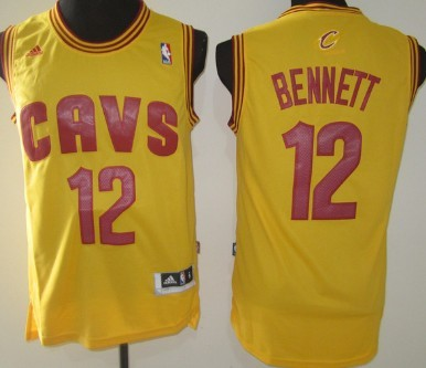 Cleveland Cavaliers #12 Anthony Bennett Revolution 30 Swingman Yellow Jersey