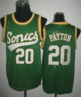 Seattle Supersonics #20 Gary Payton 2003-04 Green Swingman Jersey