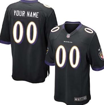 Kids Nike Baltimore Ravens Customized Black Game Jersey