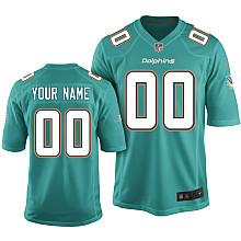 Kids Nike Miami Dolphins Customized 2013 Green Game Jersey