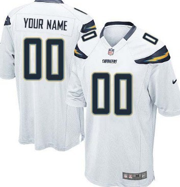 Kids Nike San Diego Chargers Customized White Game Jersey