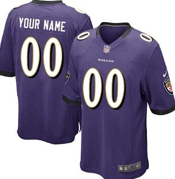 Kids Nike Baltimore Ravens Customized Purple Game Jersey