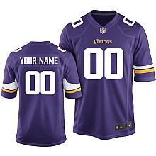 Kids Nike Minnesota Vikings Customized 2013 Purple Game Jersey