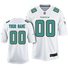 Kids Nike Miami Dolphins Customized 2013 White Game Jersey