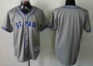 Minnesota Twins Customized 1948 St. Paul Gray Jersey