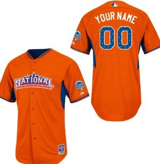 National League Customized 2013 All-Star Orange Jersey