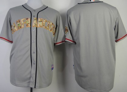 San Francisco Giants Customized Gray With Camo Jersey