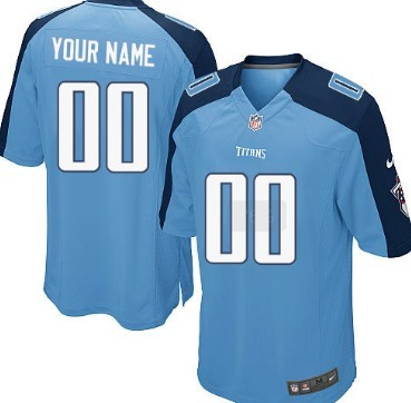 Nike Tennessee Titans Customized Light Blue Game Jersey