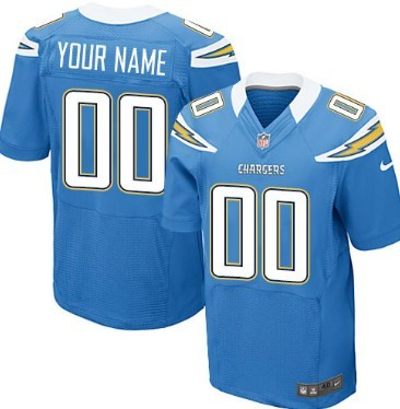 Nike San Diego Chargers Customized Light Blue Elite Jersey