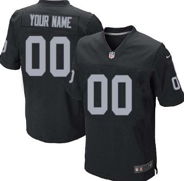 Nike Oakland Raiders Customized Black Elite Jersey