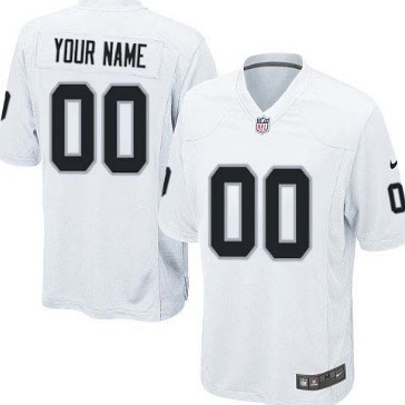 Nike Oakland Raiders Customized White Game Jersey