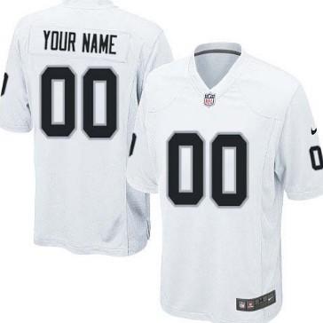 Nike Oakland Raiders Customized White Limited Jersey