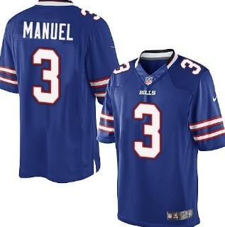Nike Buffalo Bills #3 EJ Manuel Light Blue Game Kids Jersey