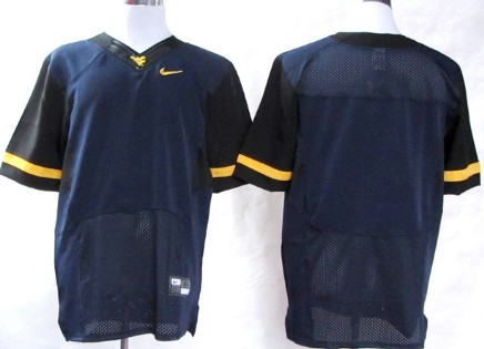 West Virginia Mountaineers Blank 2013 Navy Blue Jersey