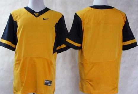 West Virginia Mountaineers Blank 2013 Yellow Jersey