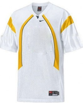 West Virginia Mountaineers Customized White Jersey