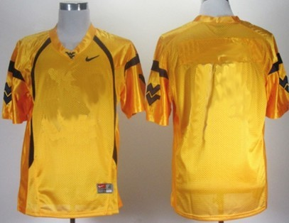 West Virginia Mountaineers Customized Yellow Jersey