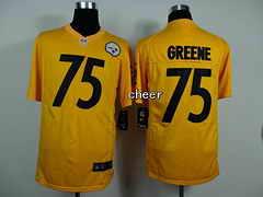 NFL game Jersey Pittsburgh Steelers #75 Greene yellow Jersey