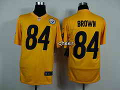 NFL game Jersey Pittsburgh Steelers #84 Brown yellow Jersey
