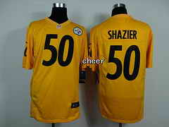 NFL game Jersey Pittsburgh Steelers #50 shazier yellow Jersey