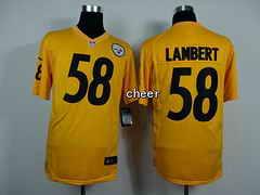 NFL game Jersey Pittsburgh Steelers #58 Lambert yellow Jersey