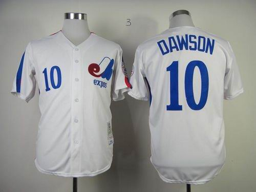 Montreal Expos #10 Andre Dawson White Throwback Baseball Mitchell And Ness 1982 Jersey