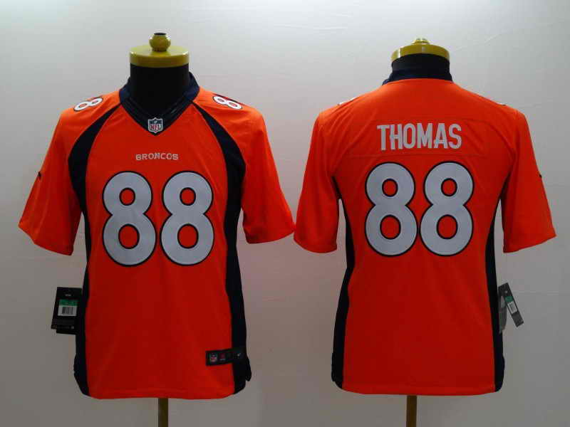 NEW Nike Denver Broncos #18 Manning Orange Elite JerseyNEW Nike Denver Broncos #88 Thomas Orange Kids Jersey