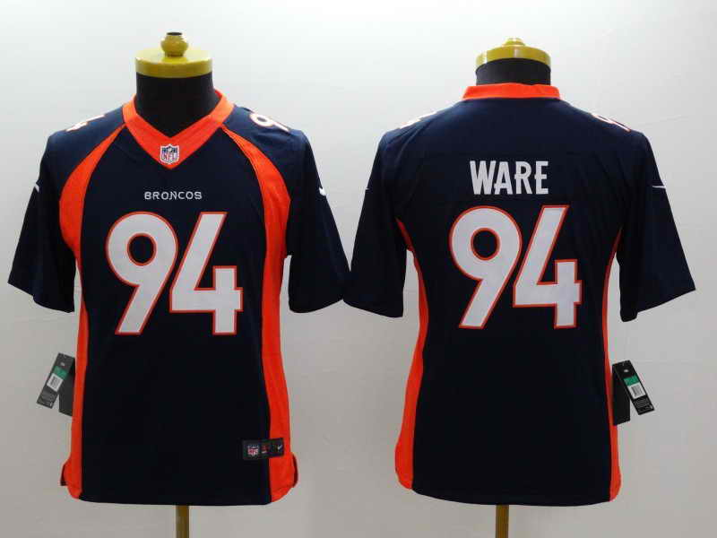NEW Nike Denver Broncos #18 Manning Orange Elite JerseyNEW Nike Denver Broncos #94 WARE Blue Kids Jersey