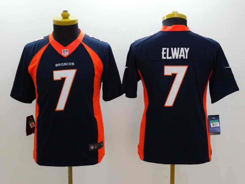 NEW Nike Denver Broncos #18 Manning Orange Elite JerseyNEW Nike Denver Broncos #7 Elway Blue Kids Jersey